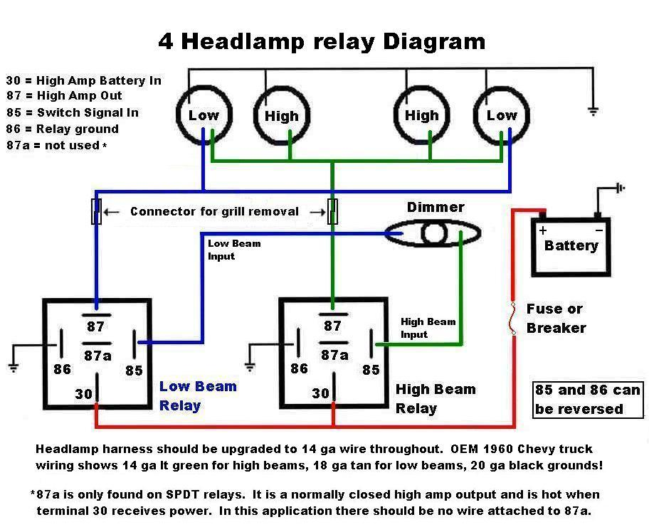 4headlamprelay 2006 dodge ram 1500 headlight switch wiring diagram wirdig  at bakdesigns.co