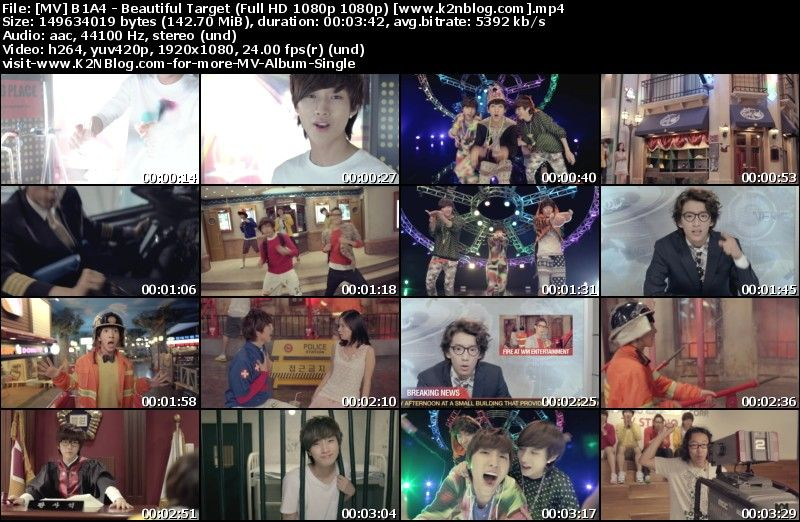 [MV] B1A4   Beautiful Target (Full HD 1080p Youtube)