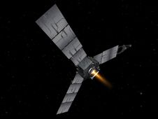 Artist�s concept depicts NASA�s Juno<br /> spacecraft during a burn of its main engine.<br /> Image credit: NASA/JPL-Caltech/Eyes&nbsp;&nbsp; <br /> <a href='http://www.nasa.gov/mission_pages/juno/multimedia/juno20120830i.html' class='bbc_url' title='External link' rel='nofollow external'>� Full image and caption</a>
