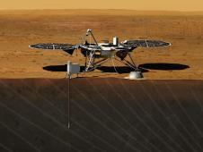 Artist rendition of the proposed InSight<br /> (Interior exploration using Seismic<br /> Investigations, Geodesy and Heat Transport)<br /> Lander. Image credit: NASA/JPL-Caltech<br /> <a href='http://www.nasa.gov/mission_pages/mars/news/pia16079.html' class='bbc_url' title='External link' rel='nofollow external'>� Full image and caption</a>