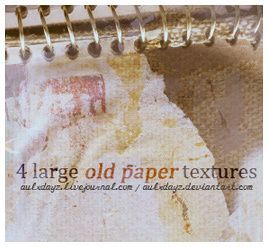 4 Large  Old Paper Textures