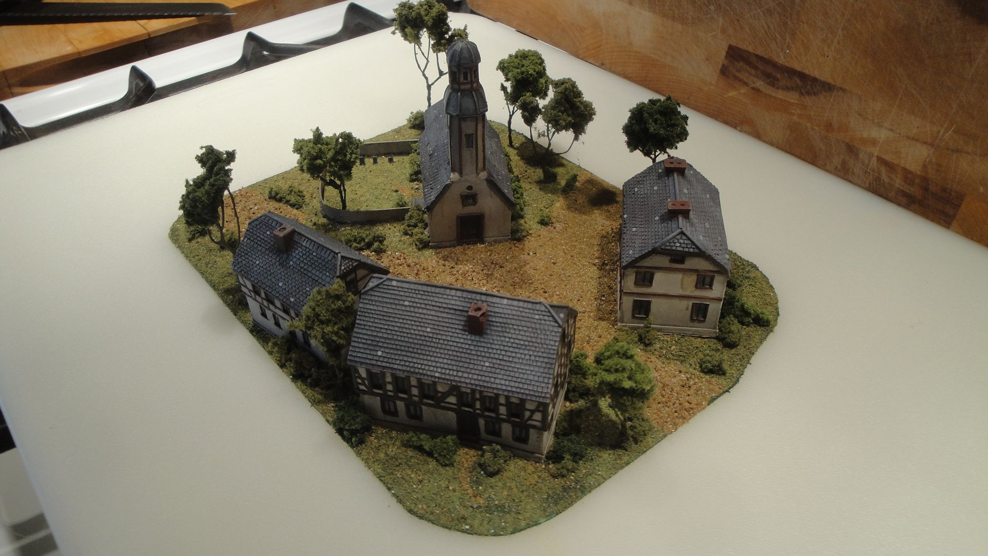 Making a 10mm Village base